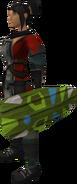 Broodoo shield (green) equipped