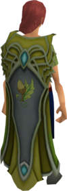 Clan Crwys cape equipped