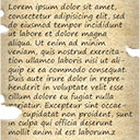 Death lorem iposum parchment