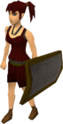 Iron sq shield equipped old