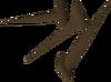 Pregos de bronze detalhe