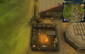Simple clue Barbarian village helmet shop crate