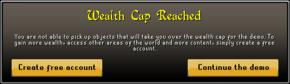 Wealth cap reached