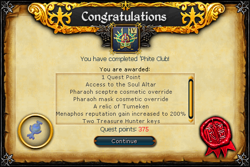 'Phite Club reward