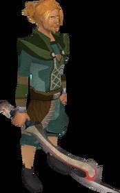 Espada de Korasi equipada
