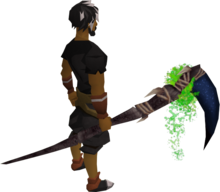 Noxious scythe equipped