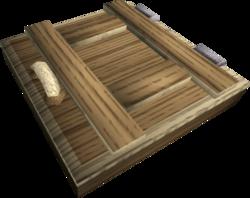 Oak trapdoor built
