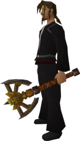 Off-hand imcando axe equipped