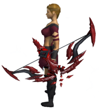 Seren godbow (blood) equipped