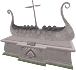 2007 Fremennik Longboat statue