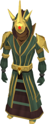 Celestial robes equipped