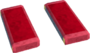 Crimson rectangle key detail