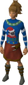 Festive jumper equipped