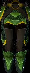 Green dragonhide chaps (g) detail