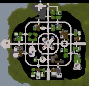 Prifddinas mapa