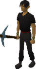 Rune pickaxe equipped old 2