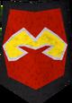 Steel kiteshield (Zamorak) detail