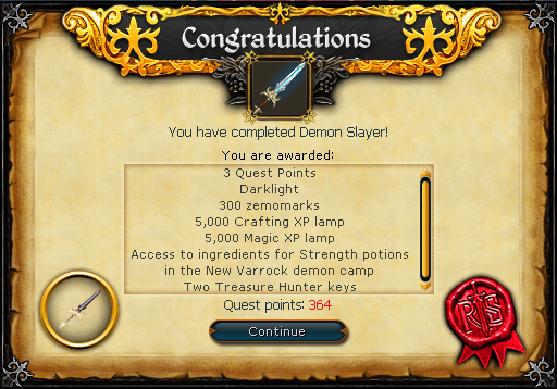 Demon Slayer (Dimension of Disaster) reward