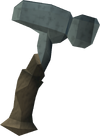 Martelo de kratonita detalhe