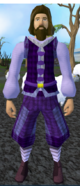 Purple elegant clothing equipped