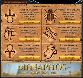 Desert Pantheon aura interface