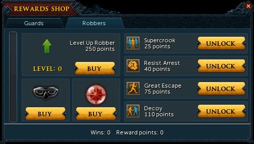 Heist reward shop (Robbers)