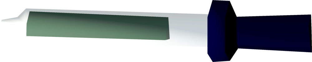 Large pipette of pig bile detail