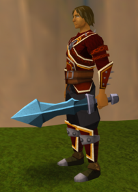 Off-hand rune ceremonial sword III equipped