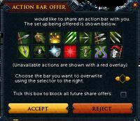 Sharing action bar