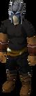 Slayer helmet equipped