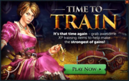Time to Train popup
