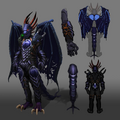 Attuned King Black Dragon outfit concept art.png