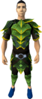 Green dragonhide armour (g) (male) equipped