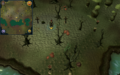 Scan clue Haunted Woods south of woods by lakes.png
