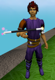 Balancing wand equipped