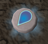 Glowing water rune detail