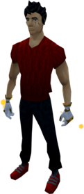 Goliath gloves (white) equipped