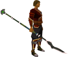 Lucky Guthan's warspear equipped