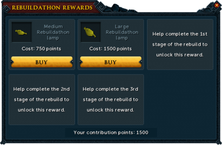 Lumbridge Rebuildathon P2P rewards