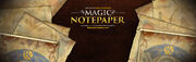 Magic Notepaper banner