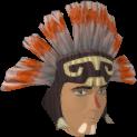 Samba headdress (blue, male) chathead