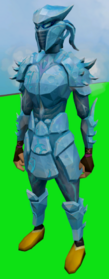 Sirenic armour set (ice) equipped