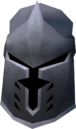 Steel full helm detail