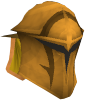 Golden warpriest of Saradomin helm chathead