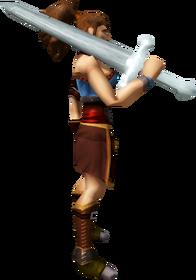 Necronium 2h sword equipped