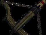 Off-hand black crossbow