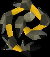 Chicote abissal (amarelo) detalhe