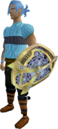 Clockwork shield equipped