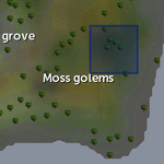 Mossy rock spawn location (moss golems)