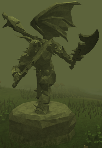 File:Plain Zamorak statue.png